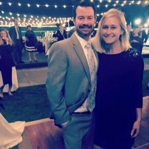 Troy and I at a wedding last weekend. At 37.5 weeks, I still managed to dance for a couple hours!